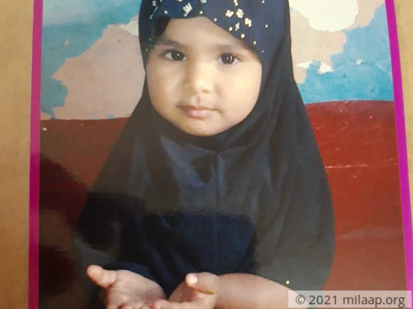 Help Misba Thahareen Fight Congenital Defect In The Spinal Cord