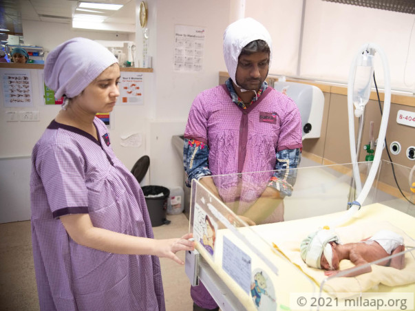 Baby of Ronak is weighs only 1024 grams and is in the ICU