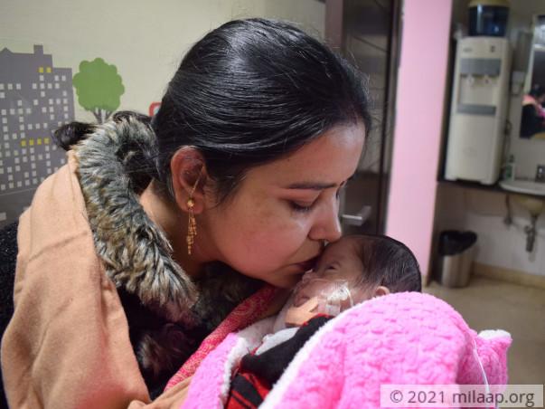 Baby of Reenu Soni Ventricular septal defect