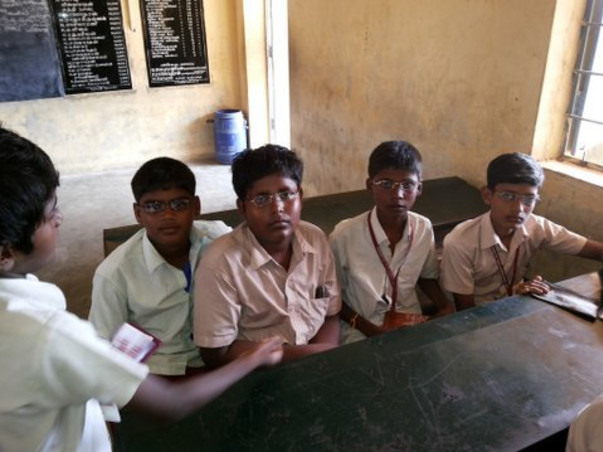 I am fundraising to provide free eye check-up and spectacles for underprivileged children in Chennai.
