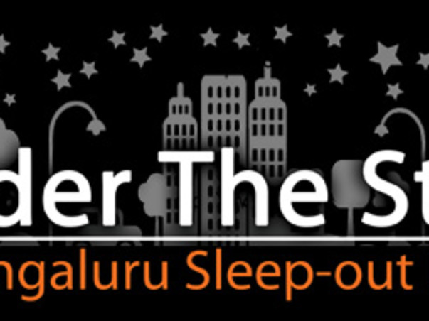 I am sleeping Under the Stars (out in the open) to support the homeless and destitute