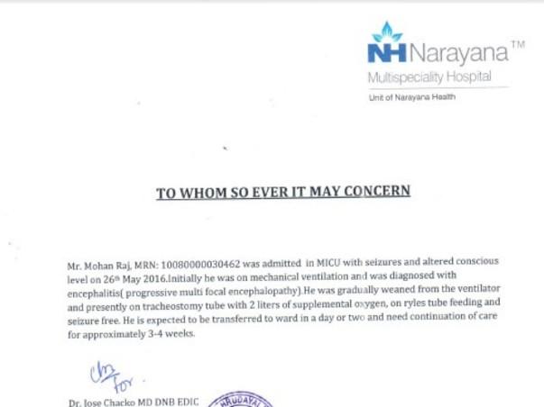 Please Help Mohan Fight His Brain Tumor