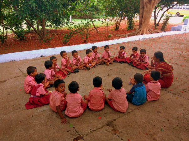 Support rural children to learn English through tablets