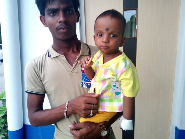 I am fundraising to eleven months child diagnosed with defective heart valve Needs immediate surgery
