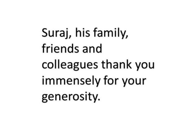 Help Suraj Recover