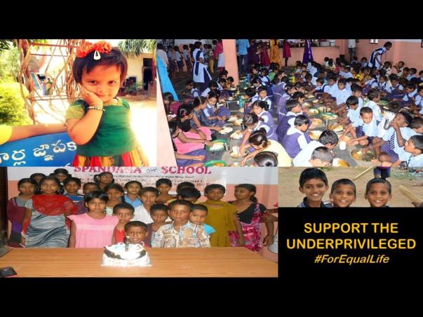 Support the underprivileged children of Sai Seva Trust
