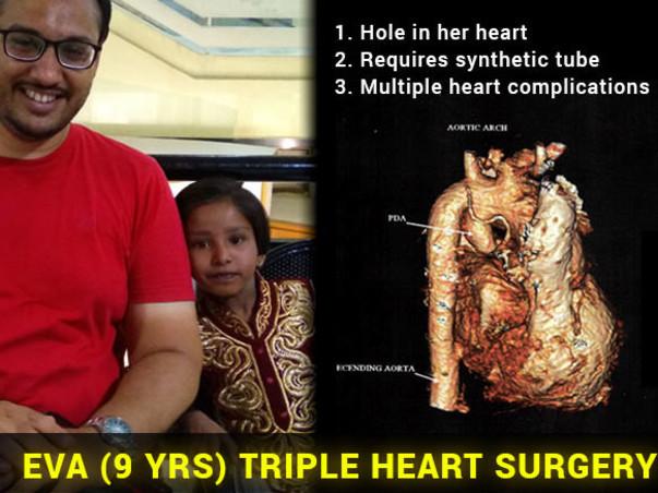 Save Critical 9 Yr Old Eva (Triple Heart Surgery)