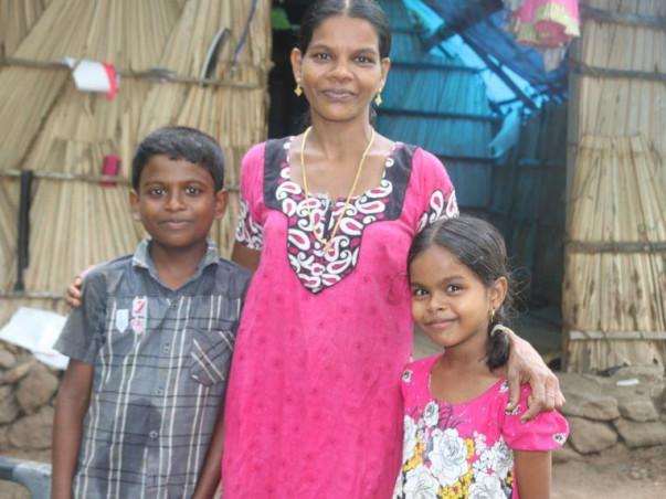 HOME FOR HOMELESS SHOBANA AND HER KIDS