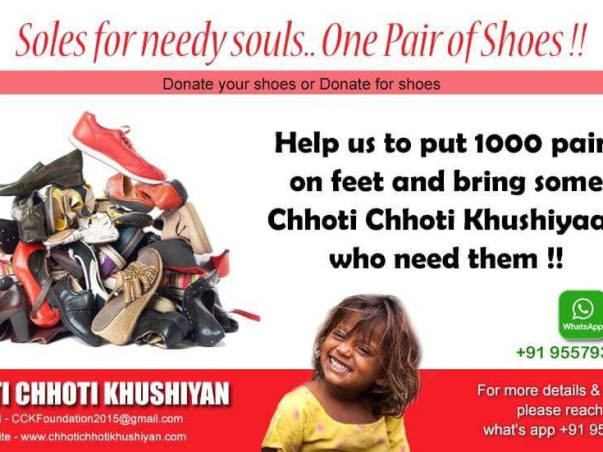 SOLES FOR NEEDY SOULS...ONE PAIR OF SHOES!!