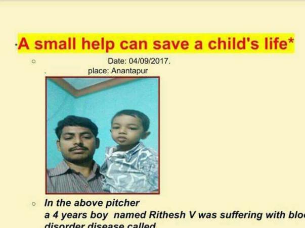 Help Child Rithesh to get Haplo Identical Bone Marrow Transplantation.