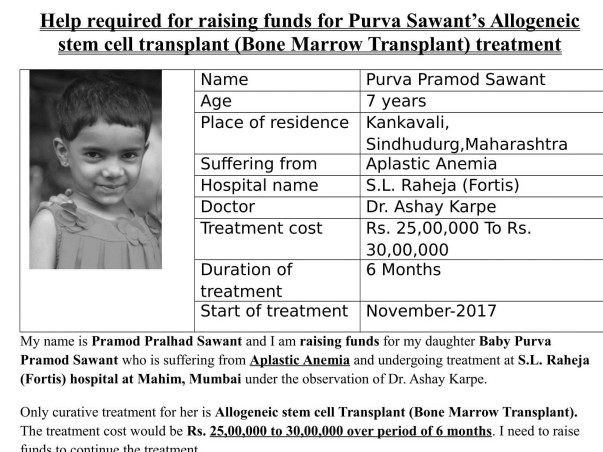 Help My Daughter Undergo An Urgent Bone Marrow Transplant