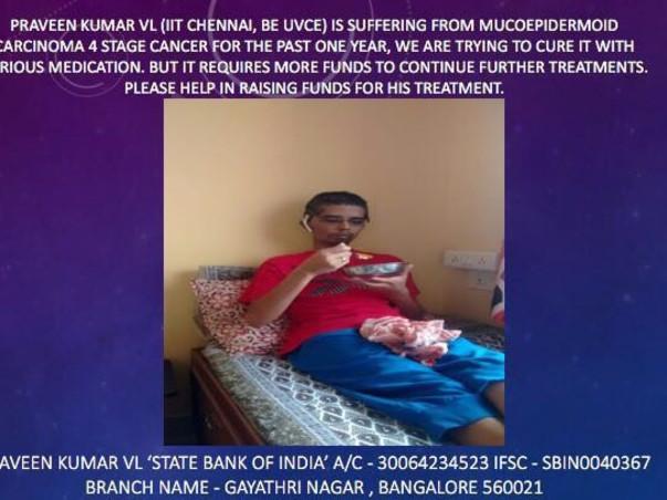 Help Praveen Fight cancer