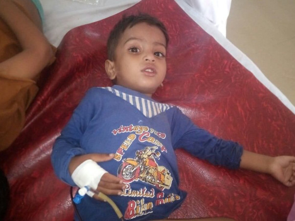 2-year-old Arfath is suffering and needs a Bone Marrow Trasnplant