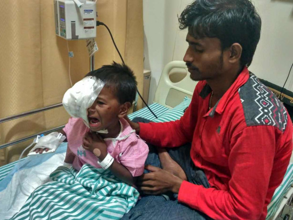 4-year-old Puthul with eye cancer needs our help