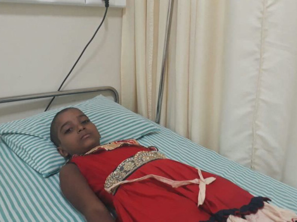Help 8 year old girl cure from cancer. Poor family  people