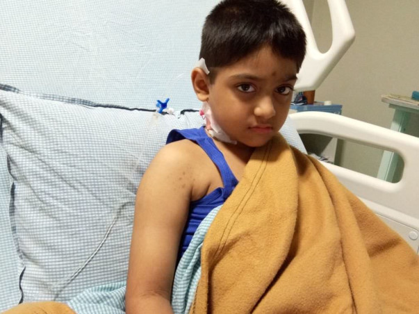 Help 6-year-old Shajieth fight cancer for the second time