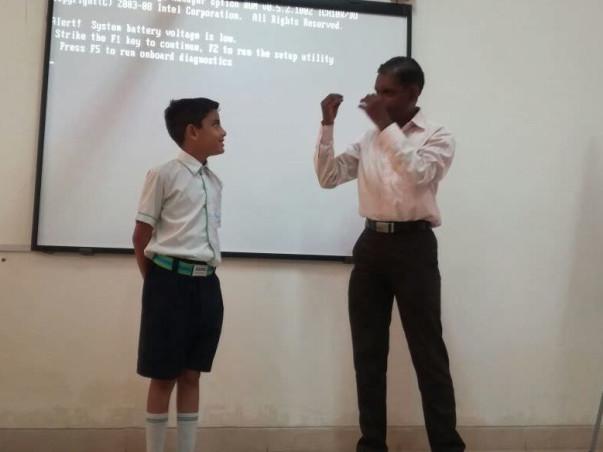 Help for Teaching Auto Suggestion Technique to Slum School Students
