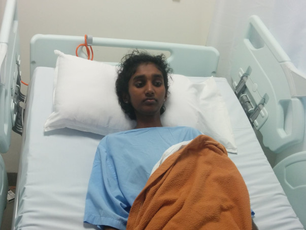 Sanju has been fighting bone cancer and now it has spread to her lungs