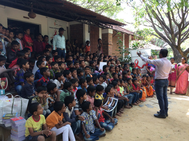 Help for-Cancer Awareness-Program At Govt School And Rural Areas