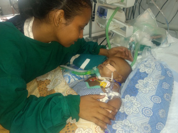 This Single Mother Is Desperate To See Her 8-Month-Old Baby Breathe