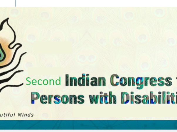 Support The Second Indian Congress For Persons With Disabilities