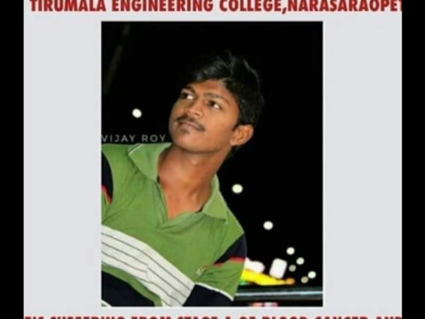 Help Vijay Roy fight blood cancer