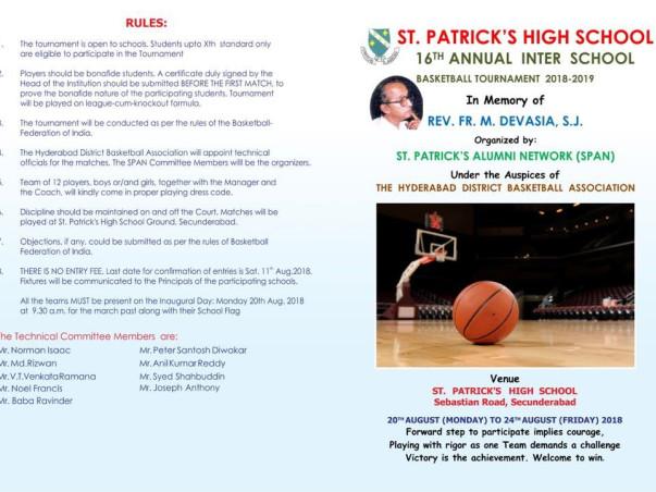 16th Annual Inter School Basketball Tournament-2018