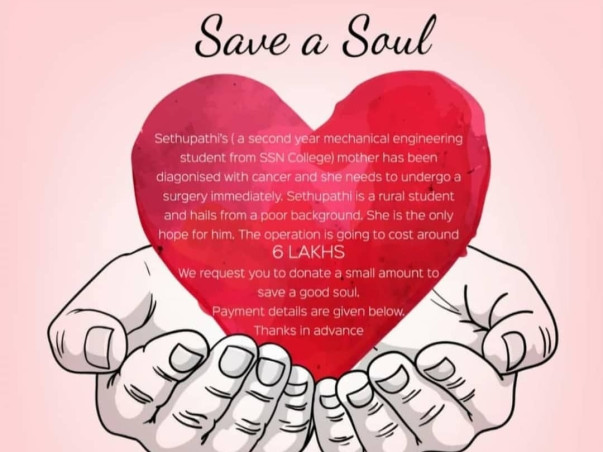 Help Sethupathi's Mom Fight Cancer