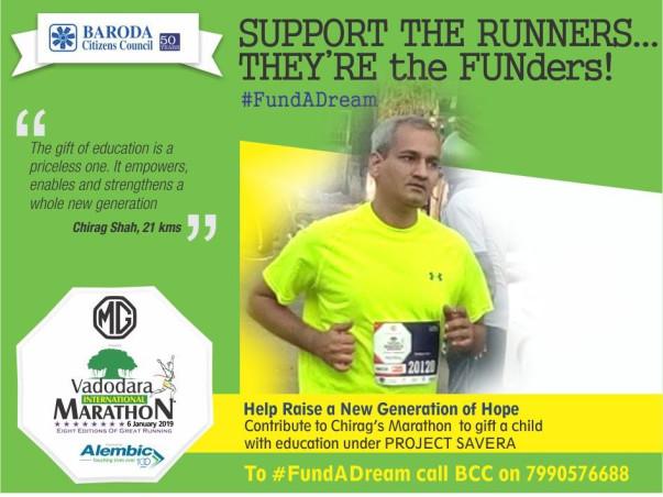BCC @ Vadodara Marathon 2019 : #FundaDream