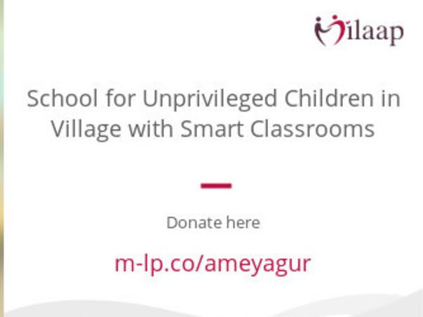 School for Unprivileged Children in Village with Smart Classrooms