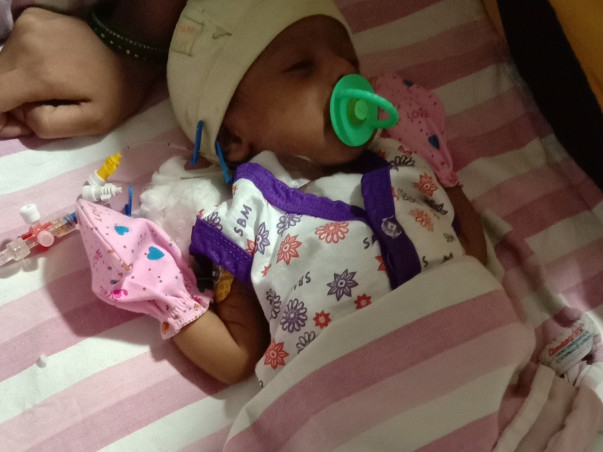 Help Sai Krishna's baby live!