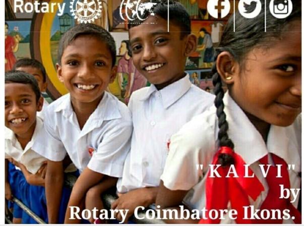 Rotary Coimbatore Ikons - literacy project KALVI