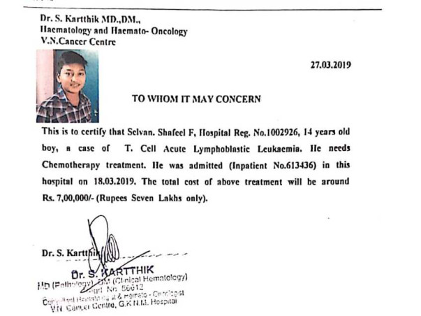 Help Auto Drivers Son Fight Cancer