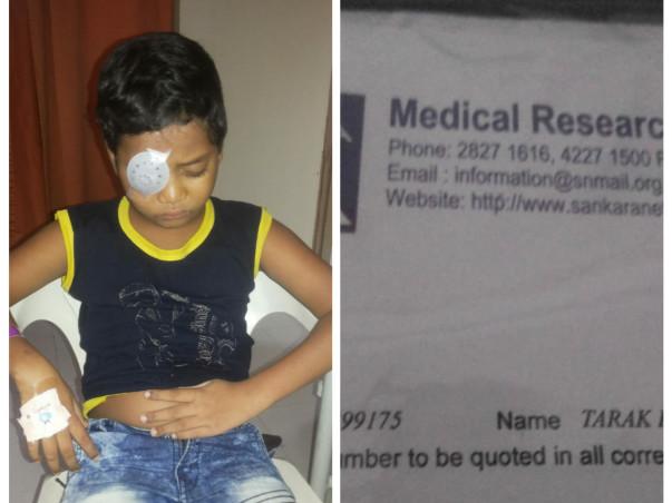 Help Tarak get back his eyesight