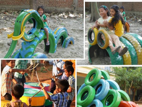 A playground for the children of Arakadu Village (Project Parivartan)