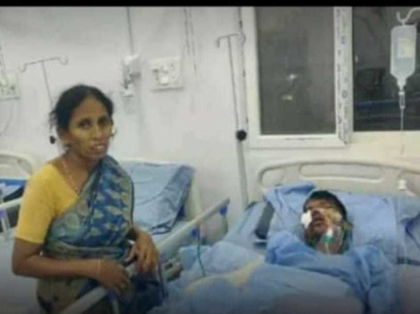 Help Sai Venkatesh Recover From The Train Accident