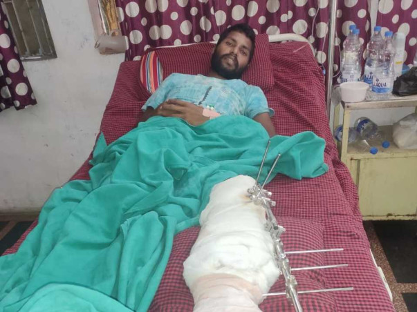 Support M. Sankara Rao Recover From Accident With Leg Injury
