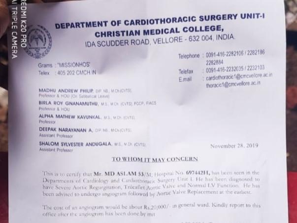 Help me to undergo heart operation