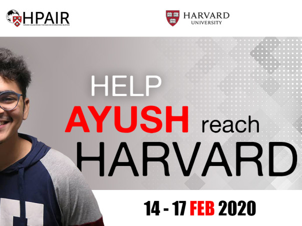 Help Ayush reach Harvard University