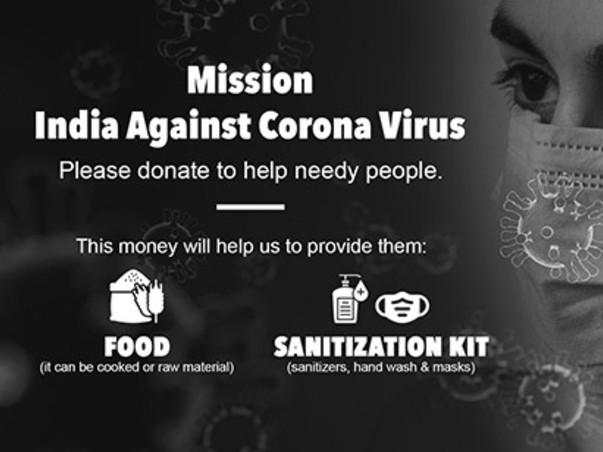 Mission India Against Corona Virus - Please donate to help needy peopl