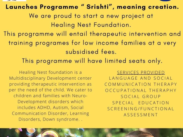 Help Under privileged special need children to get therapy.