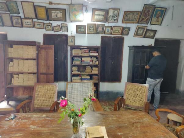 Bodhgaya Math Library  Books And Ancient Documents Restoration .