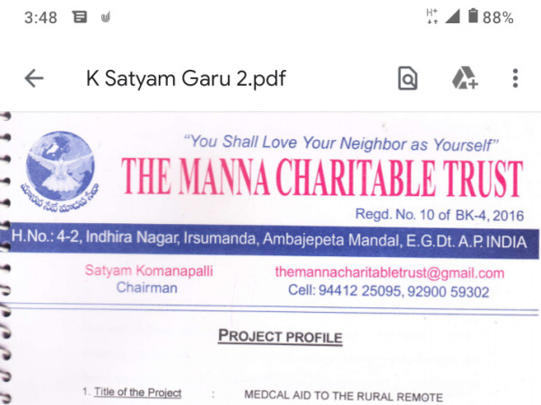 Medical Aid To The Rural Remote People