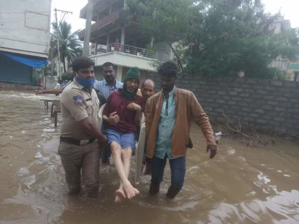 Relief Materials For Hyderabad and Telangana Flood Affected Families