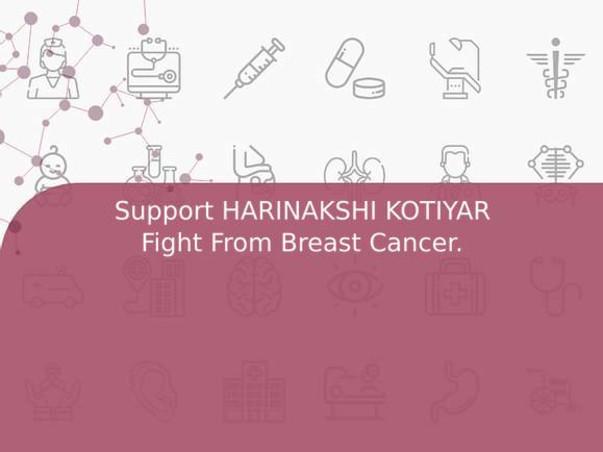 Support HARINAKSHI KOTIYAR Fight From Breast Cancer.