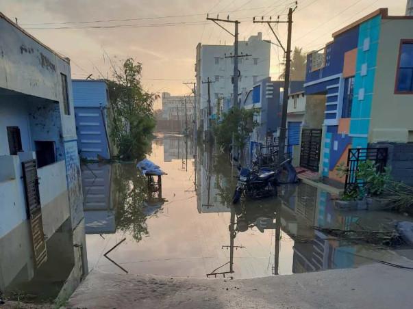 Flood relief fund for Mallikarjuna nagar and flooded areas near uppal
