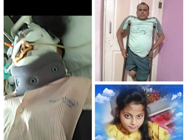 My daughter is struggling with Road traffic accident with polytrauma, help her