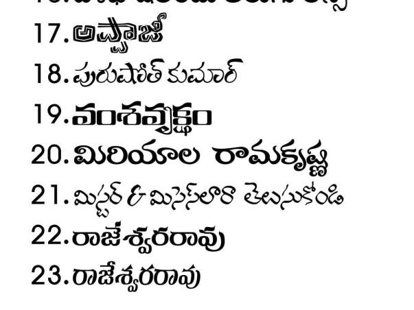 Telugu Unicode Font Development