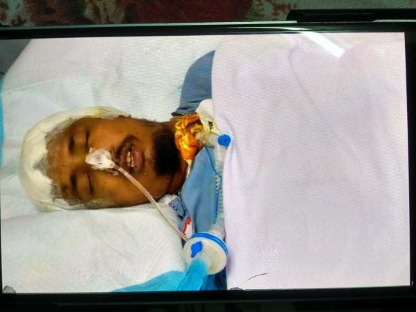 25 years old NIRJHAR DASGUPTA needs your help fight Road traffic accident with polytrauma