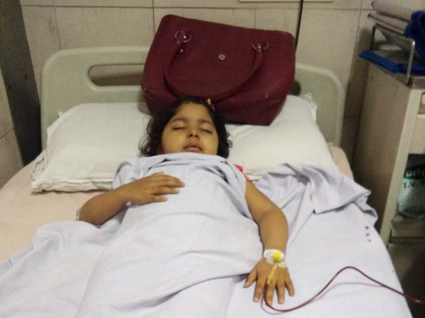 Support Aradhya fight/recover from Thalassemia major